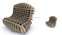 new creative eco-friendly pop display paper furniture in display rack