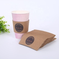 Hot coffee cup sleeves recycled hot cup sleeve ripple wall paper cup sleeve