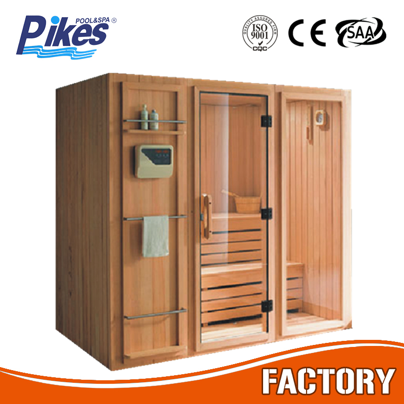 Guangzhou Factory Fashionable Best quality Canadian Cedar spruce wood Outdoor sauna room with nature sauna heater accessories