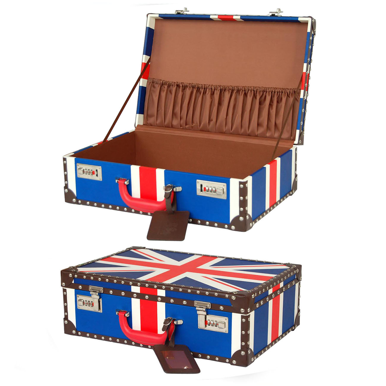 Chinese factory small exquisite lady leather suitcase storage box