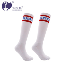 High quality white compression football Cotton Socks knee high Soccer Socks with Terry