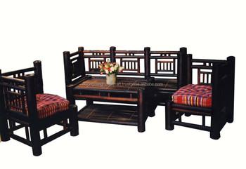 Wonderful Bamboo Sofa Set In Incredible DesignBeautiful Set Of