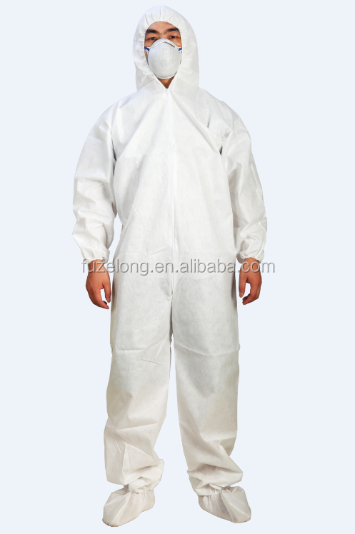 disposable overalls SMS Coveralls workwear overall with hood Anti-virus anti-bacterial avoid cross-infection