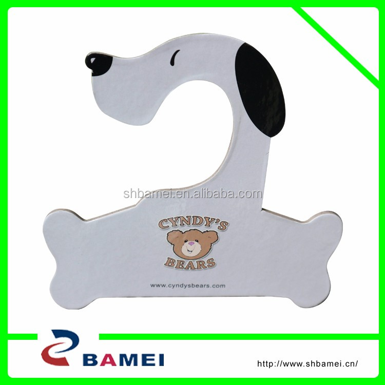 Pet paper hanger with custom design/colorful pet pretty clothes hanger for dog clothes