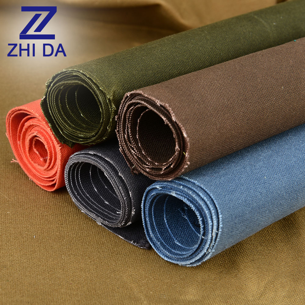 ZHIDA Factory Direct Wholesale 100% Cotton 16oz Heavy Bee Waxed Canvas Fabric