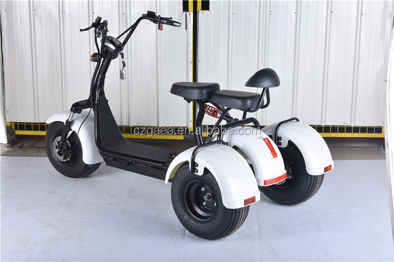 gaea 3 wheel electric scooter city coco 1000w 1200w with. Black Bedroom Furniture Sets. Home Design Ideas