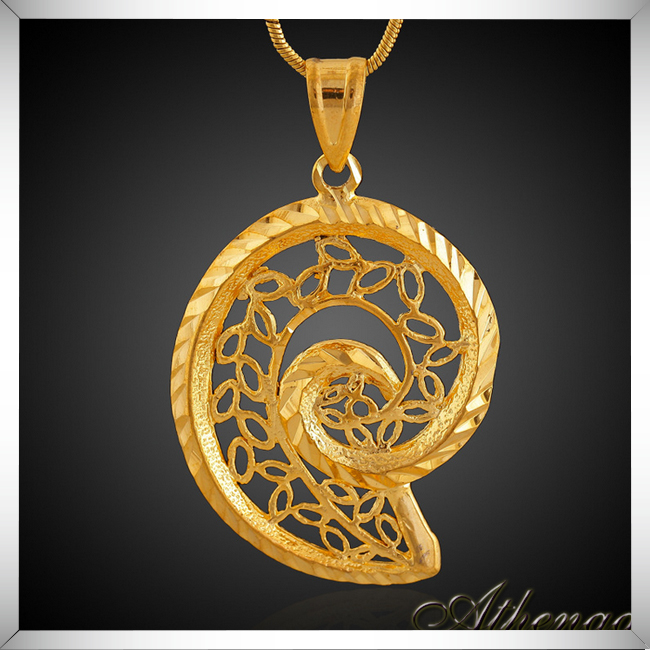 New Trendy Spiral Brass Korea Pendant 18k Gold Hip Hop Yiwu Jewelry Wholesale