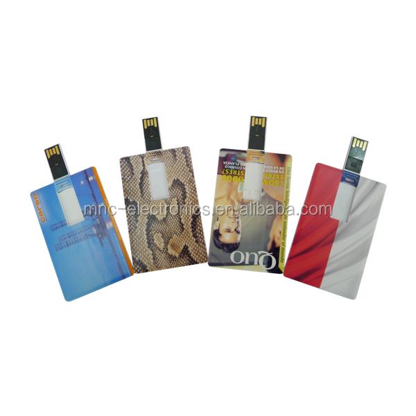Dentreprise Promotion Cadeau Personnalise Pleine Couleur Logo Impression Carte De Visite Usb Pendrive Avec