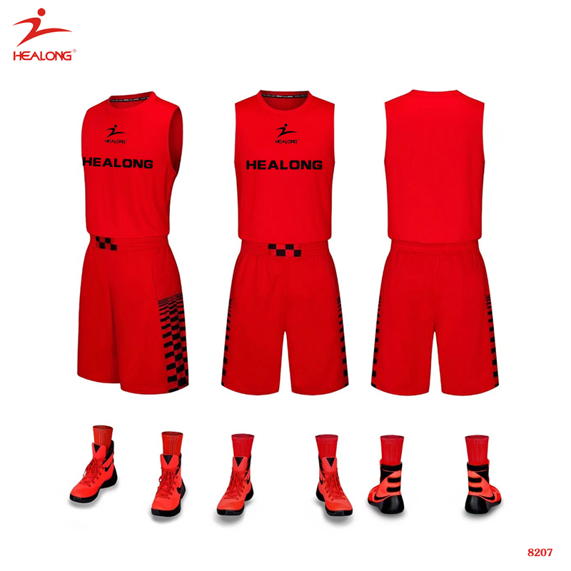 2016 neue Design Basketball Uniform Benutzerdefinierte Cool Plain Mesh College Red Basketball Jersey