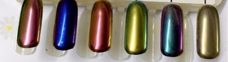 The Most Popular Metal Manix Light Gold Navy Blue Nail Art Mirror ...