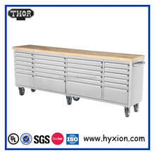 96'' heavy duty stainless roller chest tool boxes/steel work toolbox