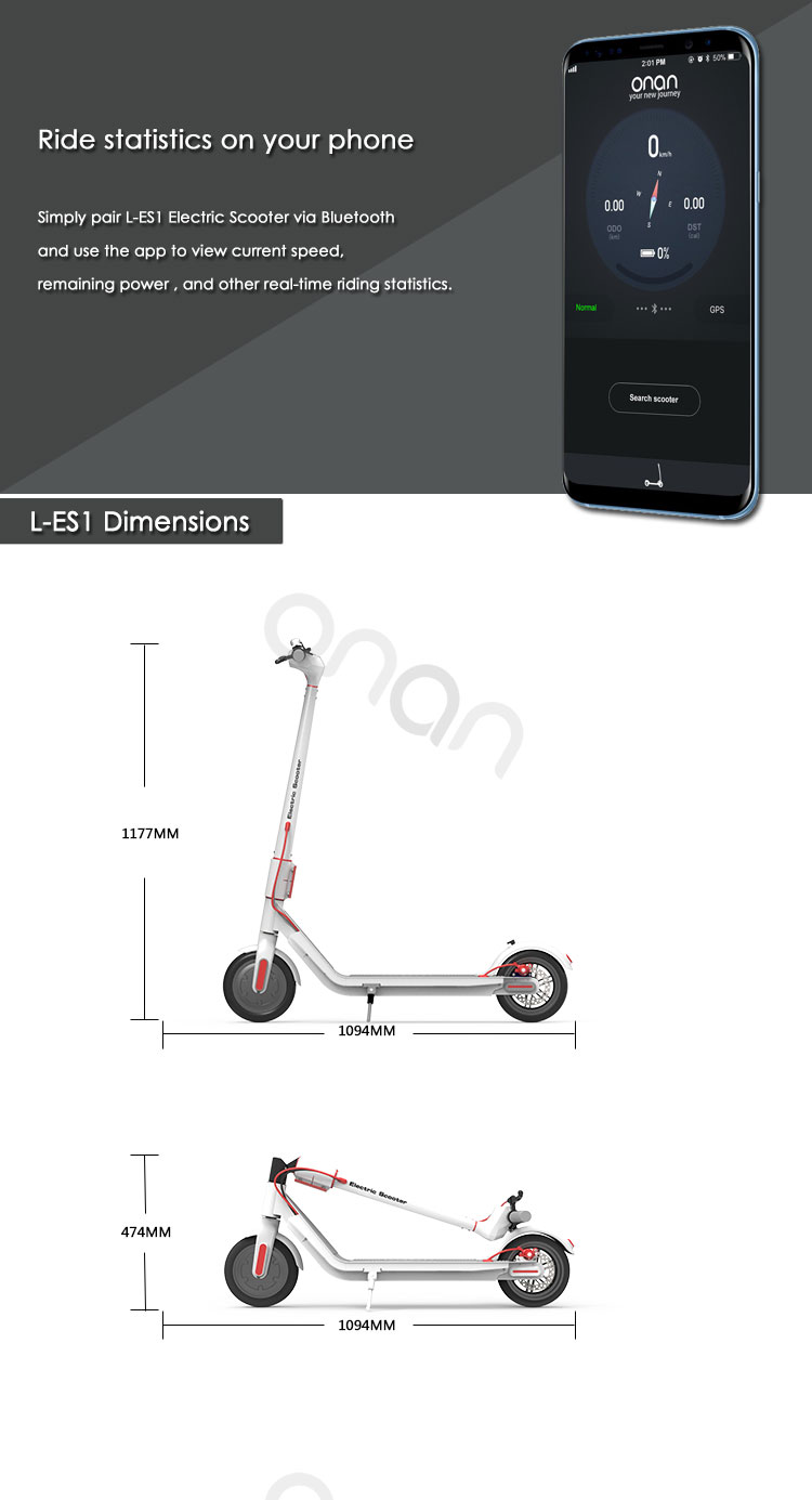 ONAN Euro Warehouse Popular Design Dual Electric Scooter With Super High Quality