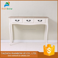 colorful wooden side coffee table with drawers
