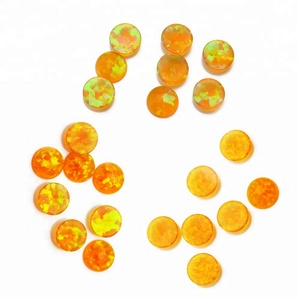 Man-made jewelry synthetic cabochon fire opal beads wholesale from Japan, jewellery just like australian opals