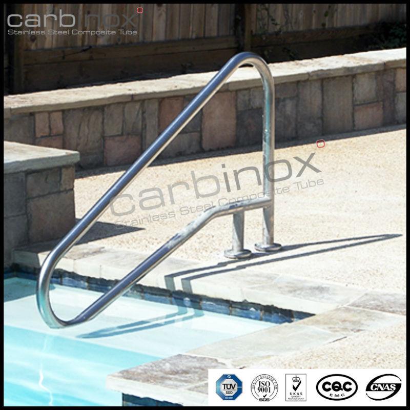 piscine rail poign es anti rouille rampe d 39 escalier swim pool handrailings en acier. Black Bedroom Furniture Sets. Home Design Ideas