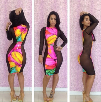2014 Hot Girl Dress Attractive Night Sexy Plus Size Club Dress Buy