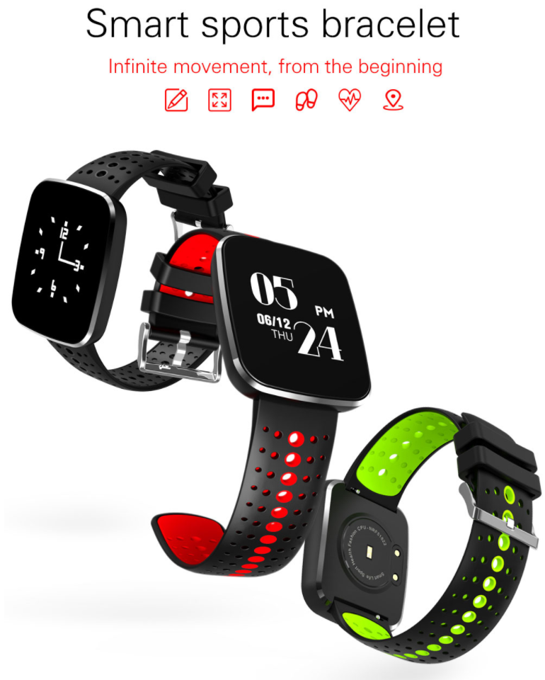 Waterproof Bluetooth cicret smart Bracelet Sports Wristband With Heart Rate Blood Pressure Monitor Pedometer watch
