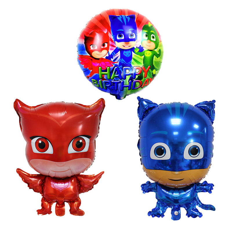 Wholesale inflatable cartoon hero PJ Masks foil helium balloon globs for birhday party decoration