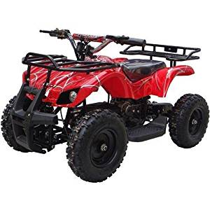 CR_Electronics Sonora Redspider 350W (Brush Motor) Electric ATV Ride on Toys, Ages 6 - 8