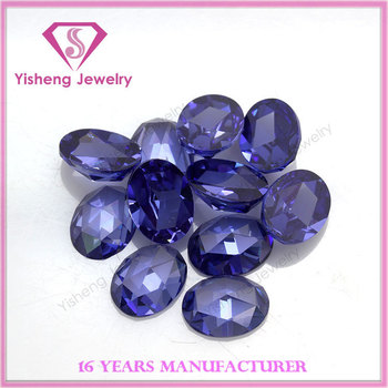 Lab Created Tanzanite Rough Prices Rose Cut Cubic Zirconia CZ Stone