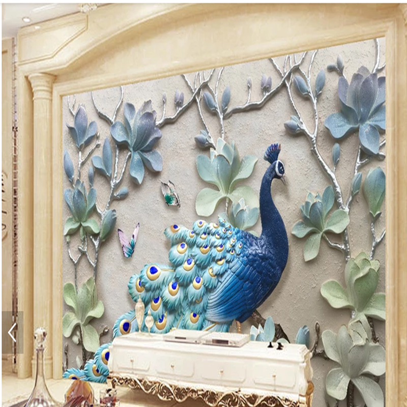 Custom 3d 5d 8d Wall Murals Wallpaper Beautiful Customized Peacock Wallpaper For Home Decoration Buy Custom 3d 5d 8d Wall Murals Wallpaper Beautiful