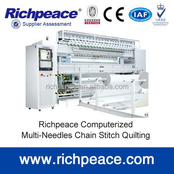 Richpeace Compterized1500RPM Multi-Head Rotary Hook Quilting Machine for quilt and mattress