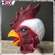 Hot-selling Halloween Kardinaal Latex Animal Cock Head Party <span class=keywords><strong>Masker</strong></span>