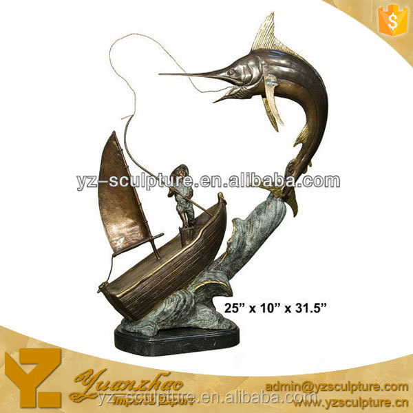 Decorative Bronze Fish Sculpture For Garden
