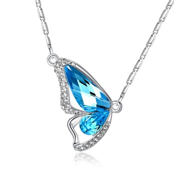 pendant necklace kqim il etsy ie wing blue butterfly market