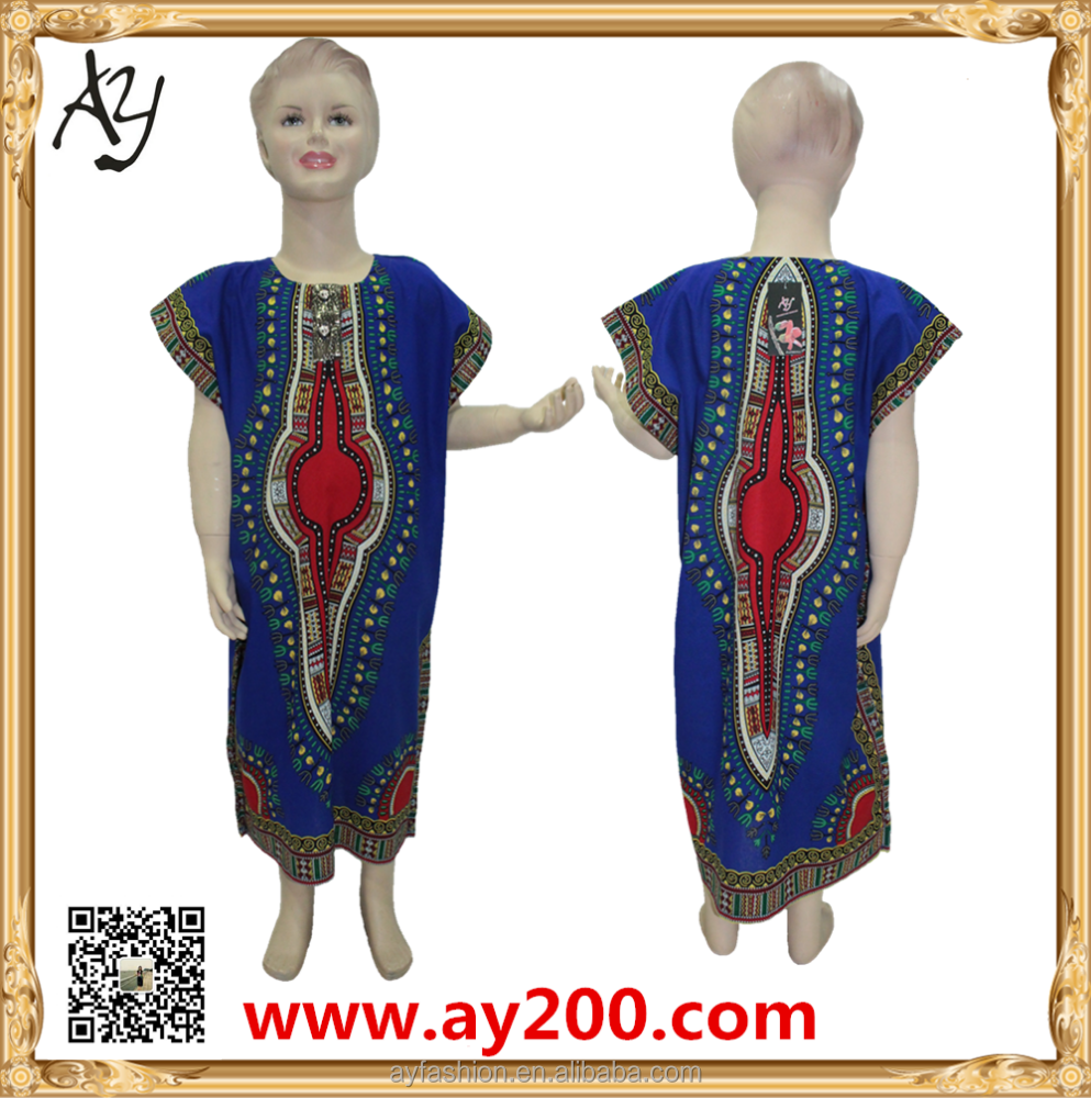 Hot sale African Printing dashiki kids girls dress new design dress
