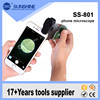 Magnification 60x-100x Zoom LED Lighted Pocket Microscope For Iphone