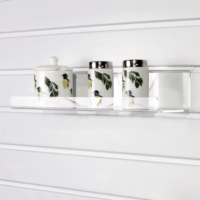 slatwall acrylic shelf with lip clear acrylic wall shelf