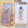 FREE Stylish Crystal Diamond Bling Case Cover For iphone 4 4S 5 5S 5C