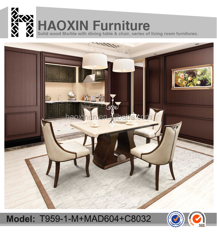 Latest Design solid wood modern dining table designs teak wood table