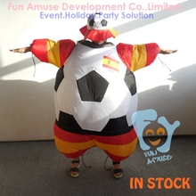 Spain football team inflatable fat suit halloween costume