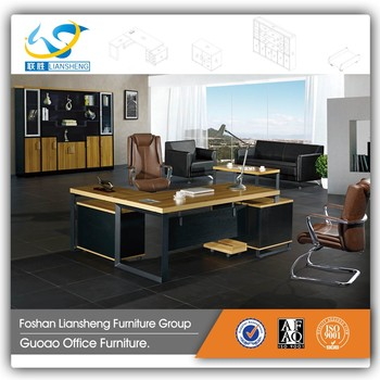 Charmant Modern Executive Desk Fancy Wooden Office Table With Side Table GAD T06