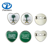 Saudi Arabia National Day Gifts Souvenir Flag Pin Badge