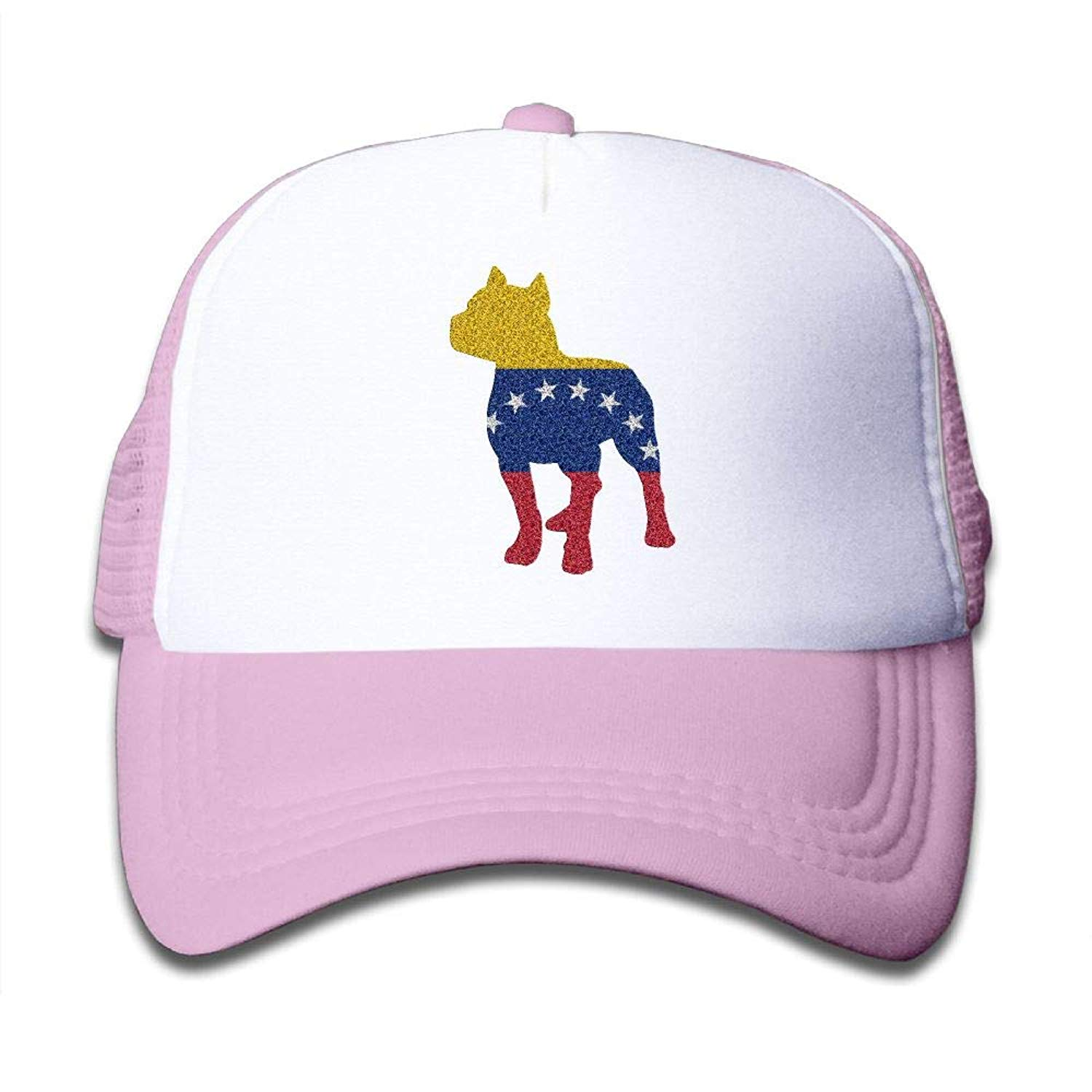 aae8d9bffe90c Get Quotations · Patriotic Pitbull Venezuela Flag On Boys and Girls Trucker  Hat