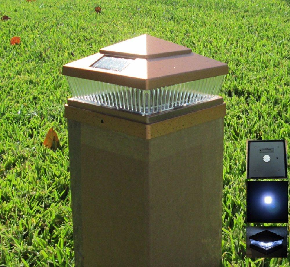 Plastic Copper 6 X 6 Outdoor 5 LED 78Lumens Solar Post Cap Light (set of 4)