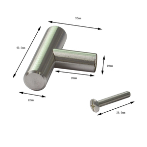 Furniture stainless steel handle brushed SS cabinet drawer handle