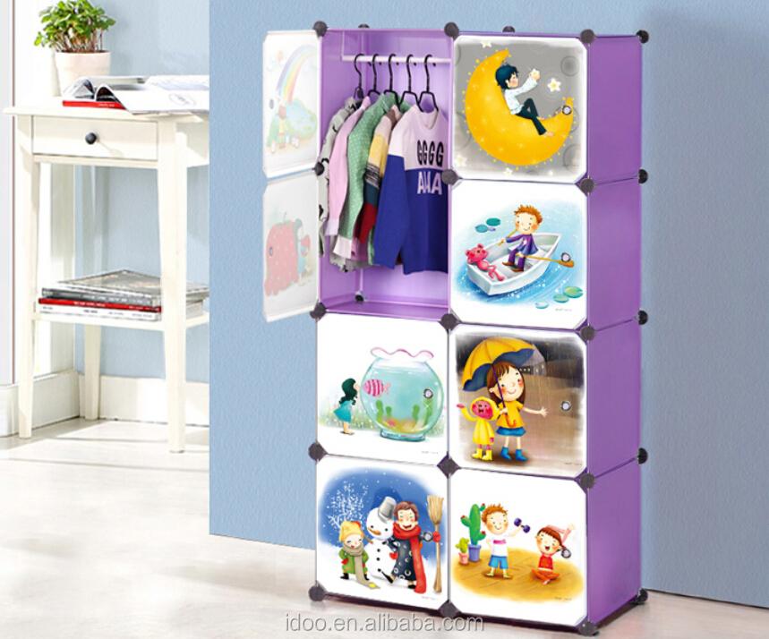 2015 New Cartoon Bookcase Design Easy Storage Baby Wardrobe ...
