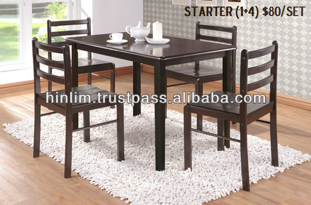 Budget 4 Seater Wooden Dining Set With 1 Wooden Dining Table And 4 Wooden Seat  Dining Chair Starter   Buy Wooden Dining Set,Cheap Dining Chairs Set Of 4  ...