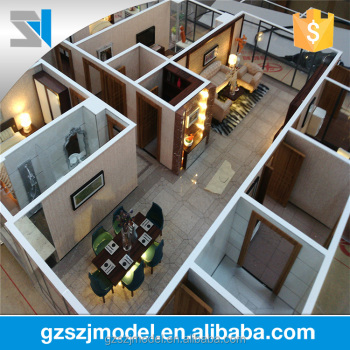 Interior Layout House Model With Furniture Model,LED Lights And Excellent  3d Renderings