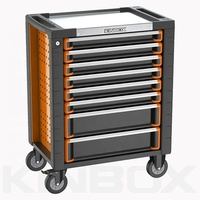 Kinbox Professional Mechanical Hand Tool Rolling Chest Trolley with 8 Drawer