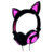 LX-R107 Wholesale colorful LED Flashing Earphones Cat Ear Headphones