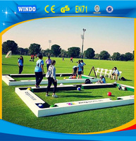 New wooden Football Pool Table Inflatable Soccer Billiard Ball Table For Sale (6.6mL x 3.6mW x 0.2mH)