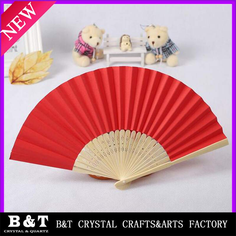 New fashion white wedding chinese personalized wood hand fan