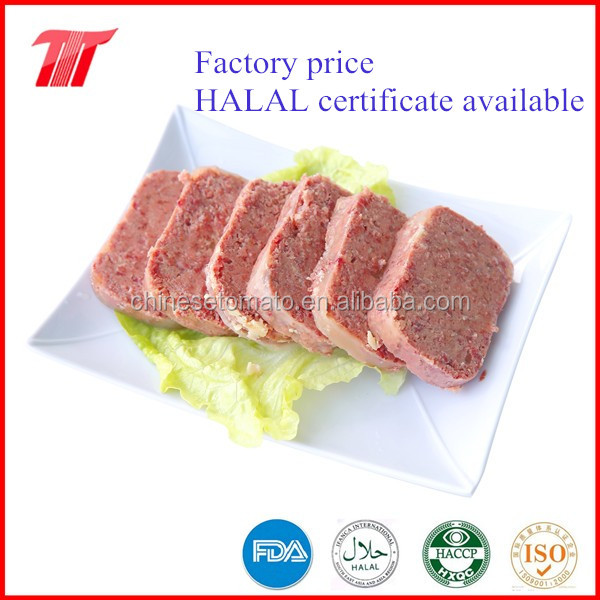 HALAL Corned beef canned beef meat 70% -90% meat fast foods from Gold Supplier