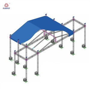 Cheap lighting exhibition concert scaffolding ground arch curved support event aluminum stage truss roof system truss for sale