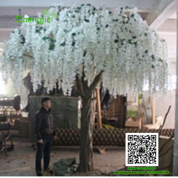 Sjzths 03 Make Artificial Trees Wedding Tree Landscape Wisteria Flower Plants White